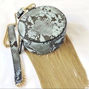 Zara snakeskin fringe crossbody